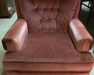 Sears Pink brushed velvet easy chair.  We have 3.