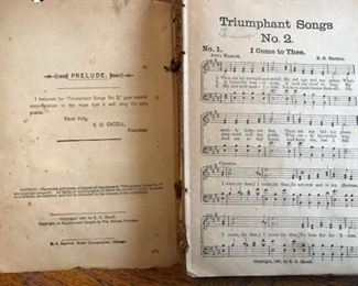 Triumphant songs 1889 copyright