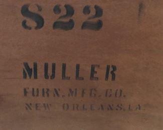 vintage bed label