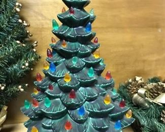 one of the nicer ceramic Christmas trees we've had