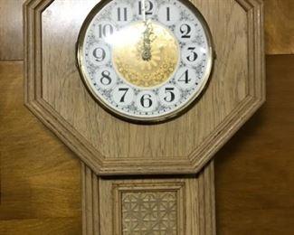 blonde wall clock
