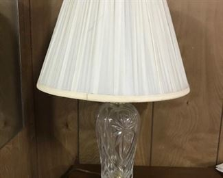 pressed glass lamp.  there are 2