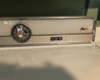 vintage Maytag dryer controls