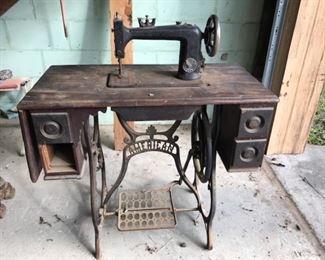 antique American sewing machine