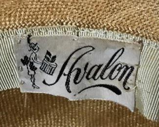 vintage woven hat label