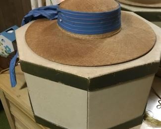 vintage woven hat by Avalon