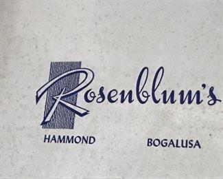 vintage Rosenblum's hatbox label