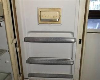 GE refrigerator door -- love the inset butter keeper!