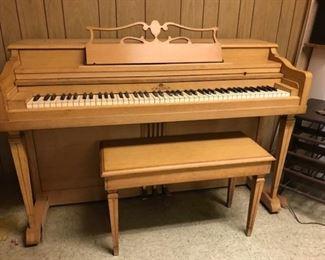 Wurlitzer piano w/stool.  Still in tune
