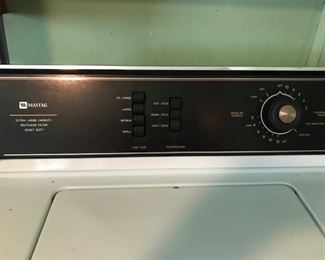 maytag washer controls