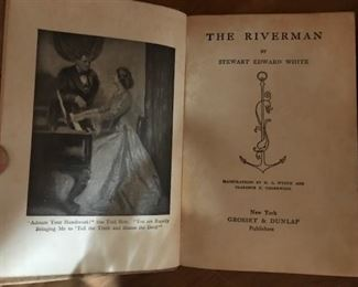 The Riverman frontpiece -- has the bookshop cover