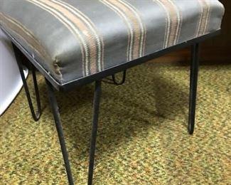 vintage hairpin leg stool