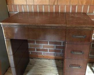 vintage sewing cabinet -- no machine inside