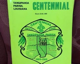 Tangipahoa Centennial program (cover is original yellow, camera thought it should be green)