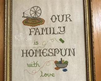 Stitched homespun
