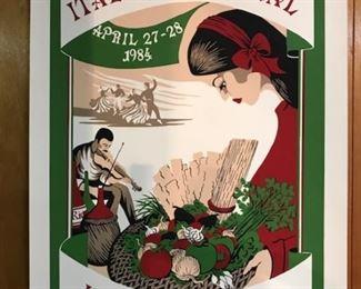 1984 Italian Fest poster