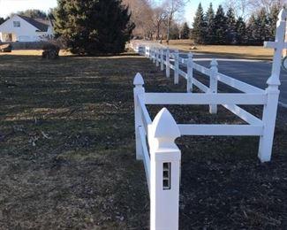 White Vinyl Split Rail Fence