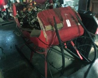 Antique Christmas Sleigh, Full Size, Horse Drawn.  Needs some TLC