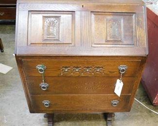 Oak bureau desk