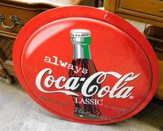 Nice 2 sided coca cola sign made out of plastic