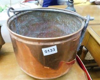 vintage copper bucket