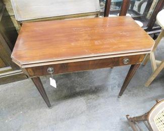Mahogany lift top console table no leaves