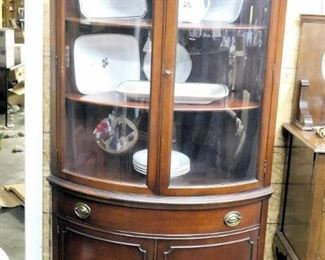 Drexel mahogany corner cabinet