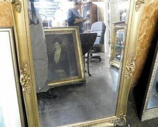 Nice gold leaf Beveled mirror