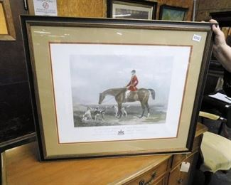 English hunting scene print