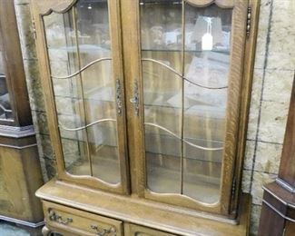 COUNTRY FRENCH OAK CHINA CABINET
