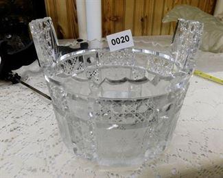 VINTAGE CUT GLASS ICE TUB