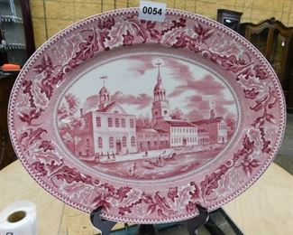 INDEPENDENCE HALL PLATTER BY JOHNSON BROS.