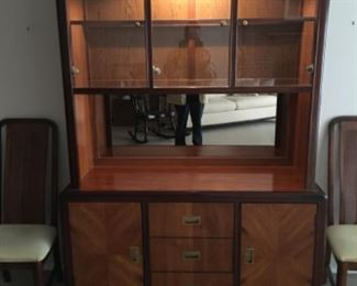 Lighted Dining Hutch