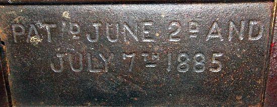 "Cast Iron ""Trick Pony"" Mechanical Bank Dated 1885 On Base"
