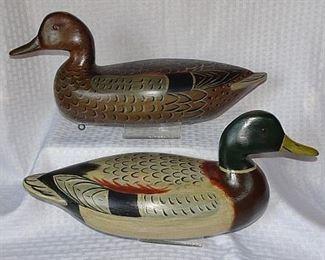 Outstanding Collection of Wooden Duck & Goose Decoys Including Vintage Perdew