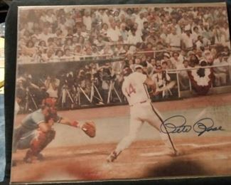 Pete Rose Autographed Photo