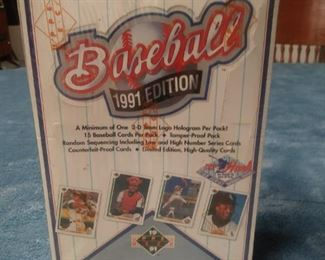 Upper Deck 1991 Unopened Box of Baseball Cards