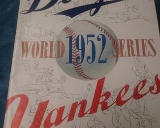 World Series Program 1952 Dodgers and Yankees