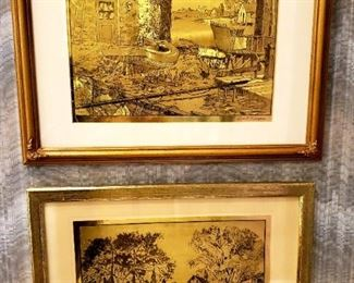 Lionel Barrymore Gold Foil Etched Art