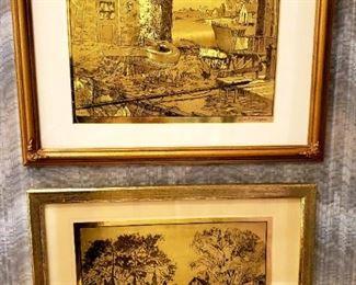 Lionel Barrymore Gold Foil Etched Art