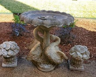 Birdbath and Patio Decor