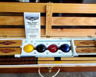 Old School Croquet Set