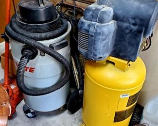 Air Compressor and Shop Vac