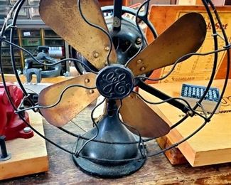 Rare WORKING Vintage Brass Blade Fan