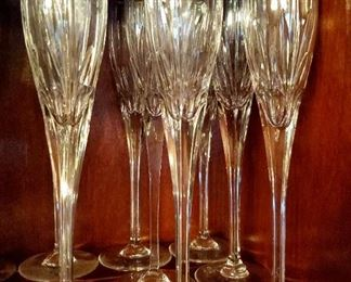 Vintage Mikasa Golden Tiara Crystal Flutes - Set of 12