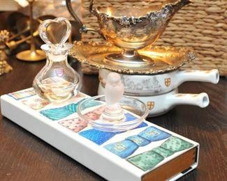 Lalique, Orrefors, Fornasetti Cravatini box