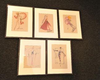 Henri Bendel catalog illustrations
