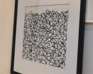 """Tang V… , Untitled, lithograph on paper, signed (illegible) recto, 33.5 x 28"""".  Excellent condition."""