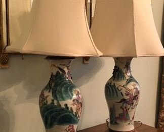 PR ASIAN LAMPS PURCHASED AT TRAVIS & CO.