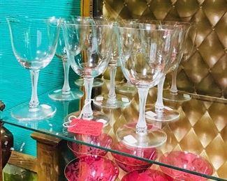 Lalique Wine Stems